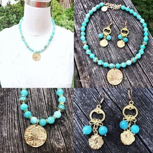 Jewelry - Artisan Necklace and Earring Set